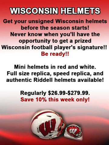 Wisconsin Mini Helmets Sale