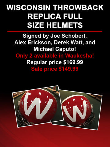 Wisconsin Throwback Helmets