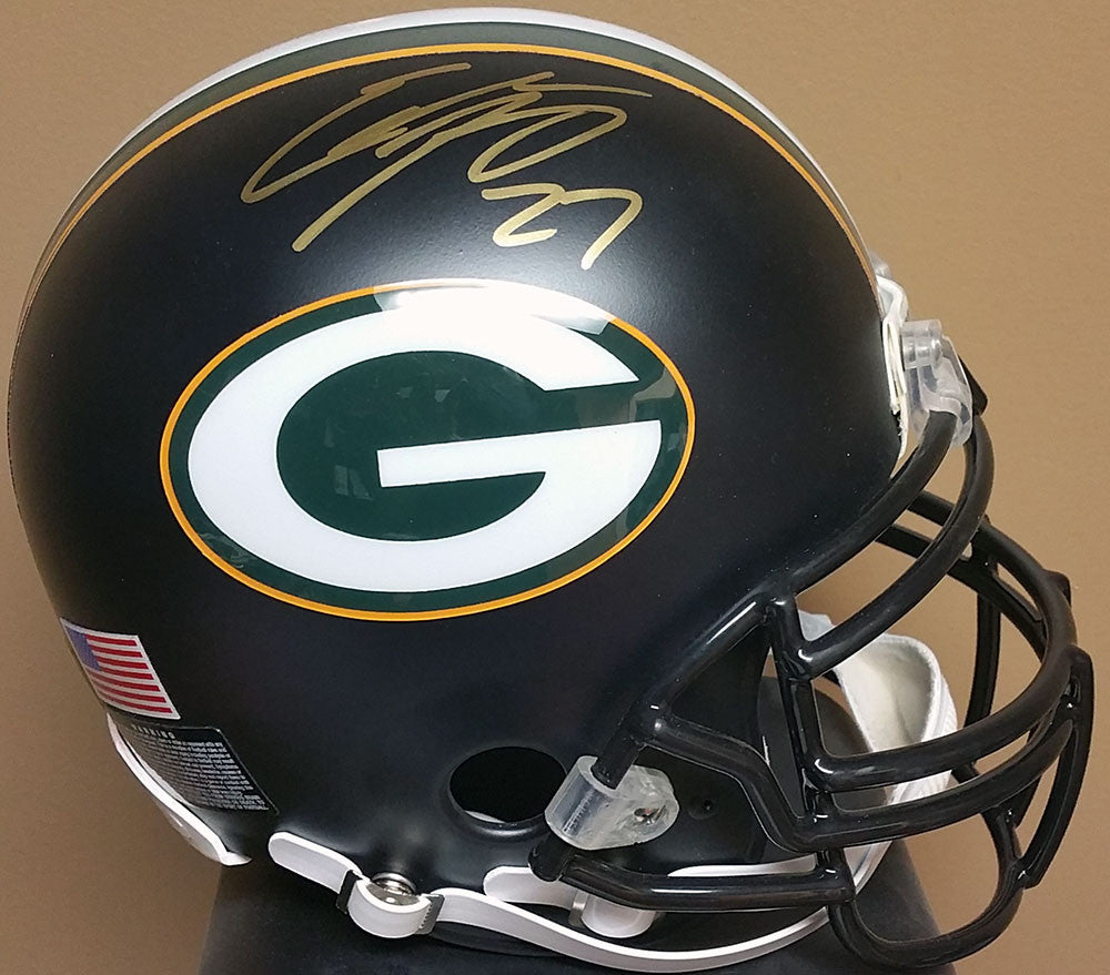 Eddie Lacy Green Bay Packers Signed Full Size Black Custom Helmet