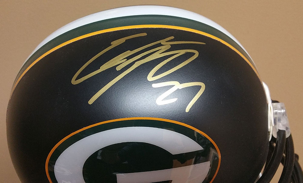 Eddie Lacy Green Bay Packers Signed Full Size Black Custom