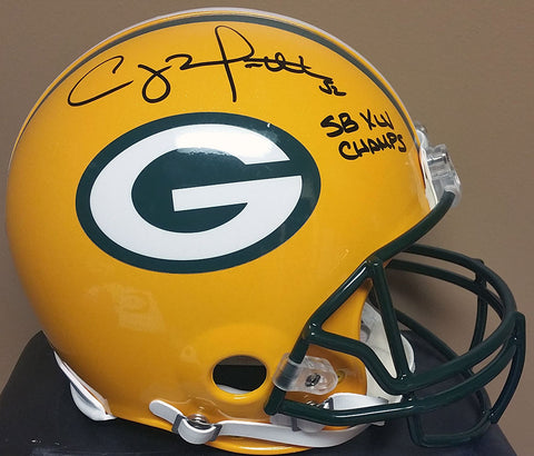 Clay Matthews Green Bay Packers Signed Full Size Authentic Proline Helmet with SB XLV Champs Inscription