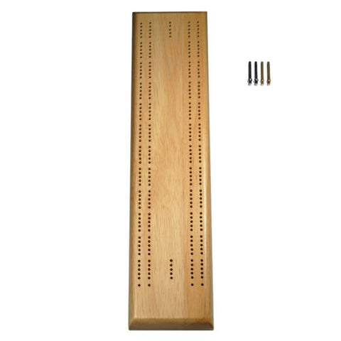 Competition Cribbage Set - Solid Wood Sprint 2 Track Board w/Pegs