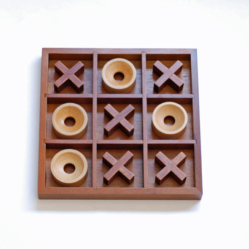 Tic-Tac-Toe Wooden Board Game