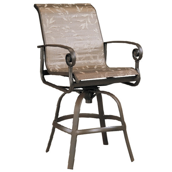 Patio Renaissance Caicos Collection Outdoor Swivel Bar Chair