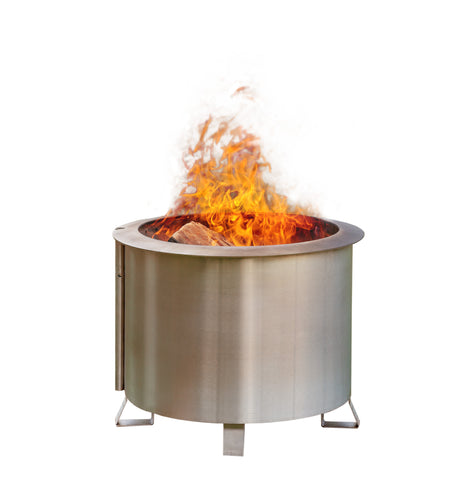 "Breeo ""Double Flame"" Smoke Less Fire Pit - Stainless Steel"