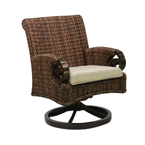 Patio Renaissance Antigua Collection Outdoor Dining Swivel Rocker