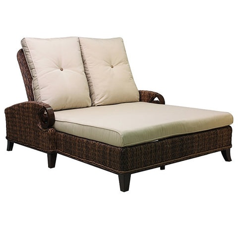 Patio Renaissance Antigua Collection Outdoor Double Adjustable Chaise Chair