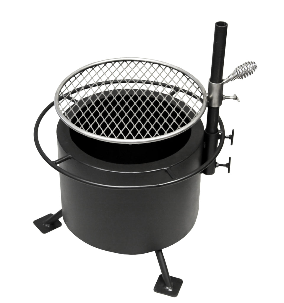 "Breeo ""Double Flame"" 17"" Grill with Post - Steel"