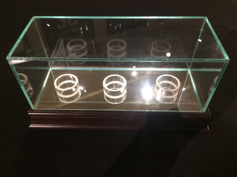 Glass Display Case for Three Baseballs