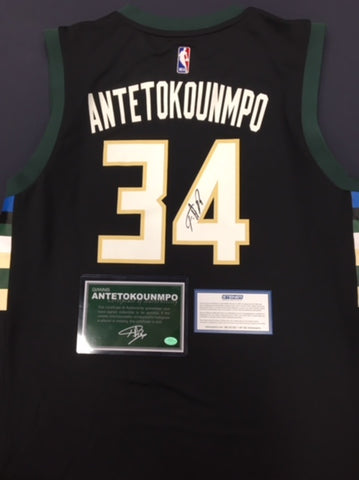 Giannis Antetokounmpo Milwaukee Bucks Signed Replica Jersey
