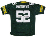 Clay Matthews Green Bay Packers Signed Custom Green Jersey with SB XLV Champs Inscription