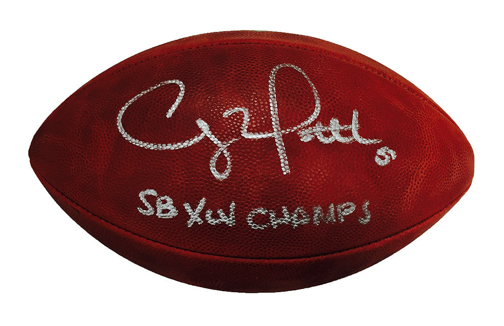 Clay Matthews Green Bay Packers Signed Duke NFL Football with SB XLV Champs Inscription
