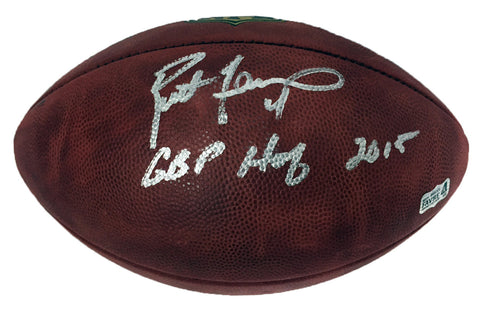 Brett Favre Green Bay Packers Signed Duke NFL Football with GBHOF 2015 Inscription