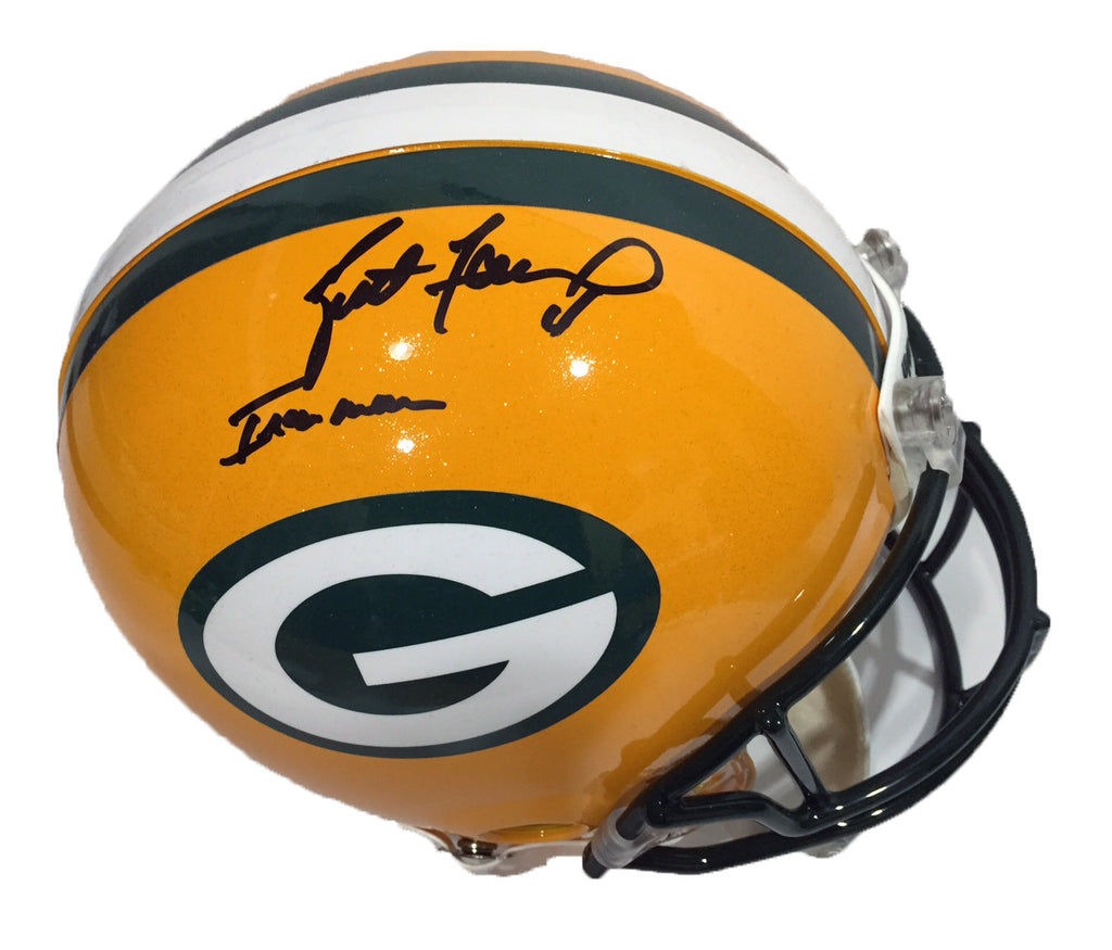 Brett Favre Green Bay Packers Signed Full Size Authentic Proline Helmet with Ironman Inscription