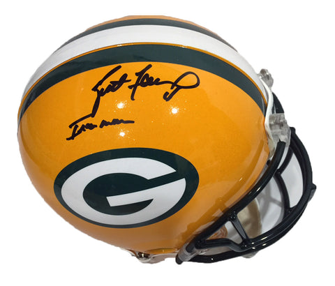 5a4780361 Brett Favre Green Bay Packers Signed Full Size Authentic Proline Helmet  with Ironman Inscription