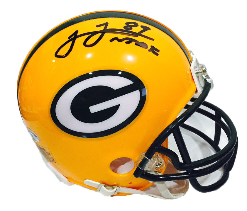 James Jones Green Bay Packers Signed Mini Helmet