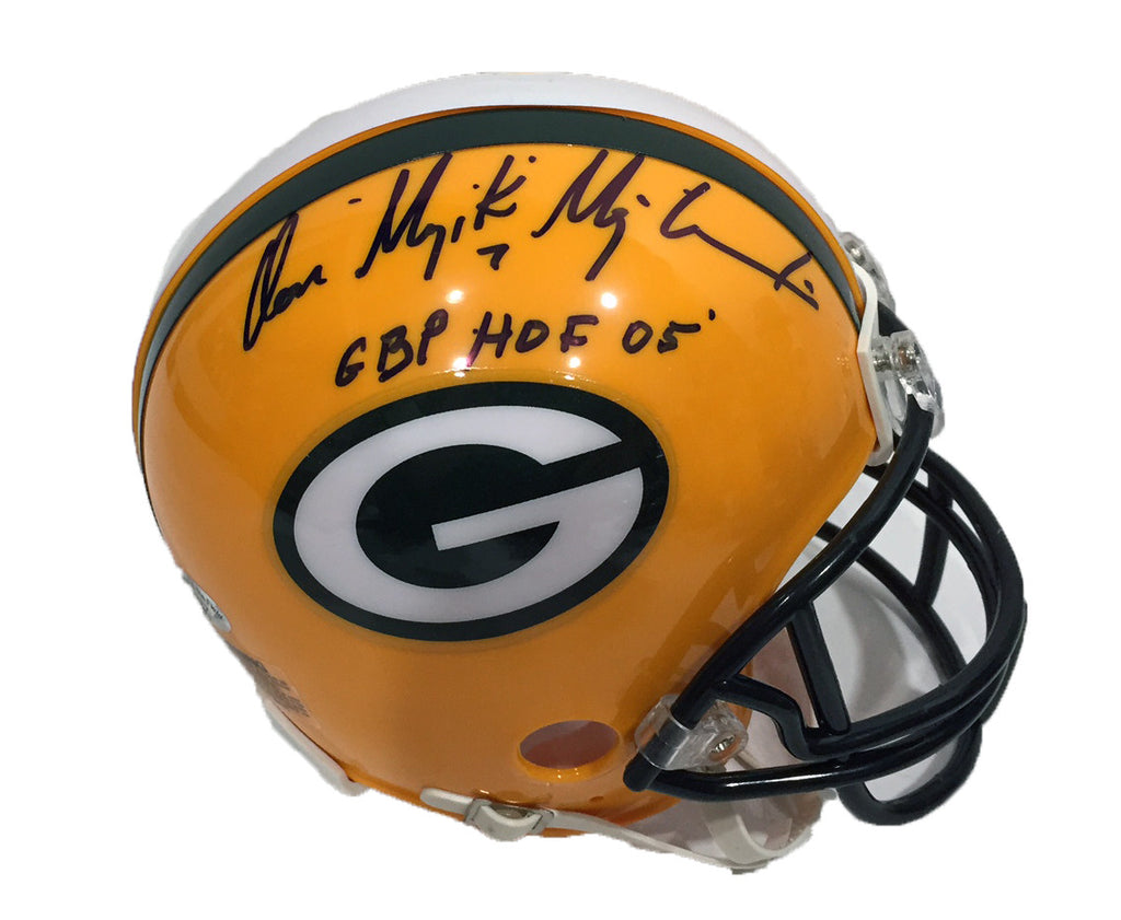 Don Majkowski Green Bay Packers Signed Mini Helmet with GBP HOF 15 Inscription