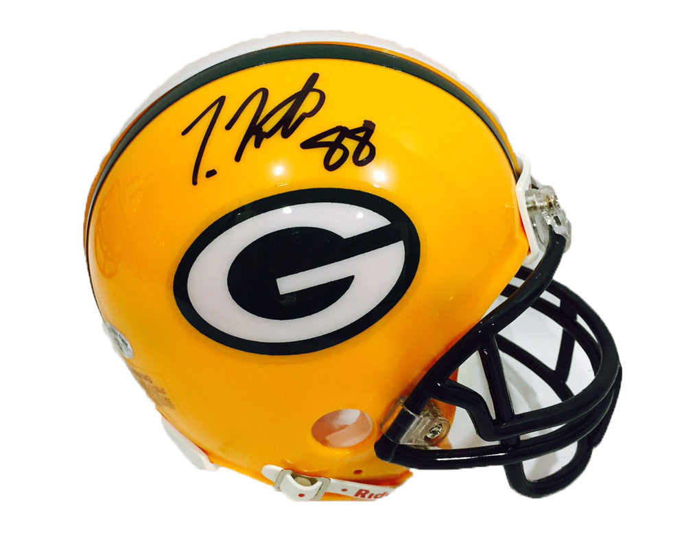 Ty Montgomery Green Bay Packers Signed Mini Helmet