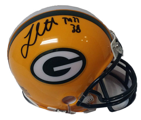 John Crockett Green Bay Packers Signed Mini Helmet