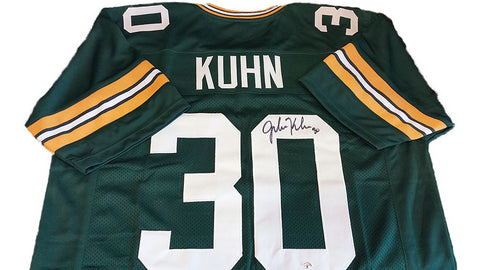 John Kuhn Green Bay Packers Signed Custom Green Jersey
