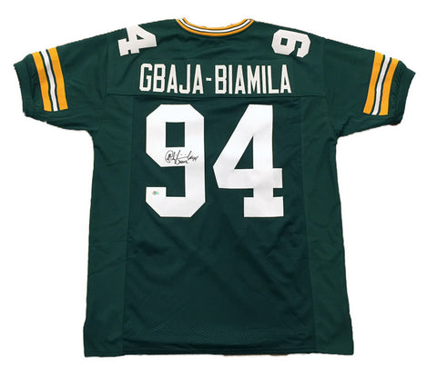 Kabeer Gbaja-Biamila Green Bay Packers Signed Custom Green Jersey