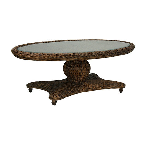 Patio Renaissance Antigua Collection Outdoor Oval Coffee Table