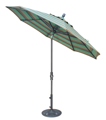 "Treasure Garden ""9' Aluminum Collar Tilt Umbrella"" (QUICK SHIP)"