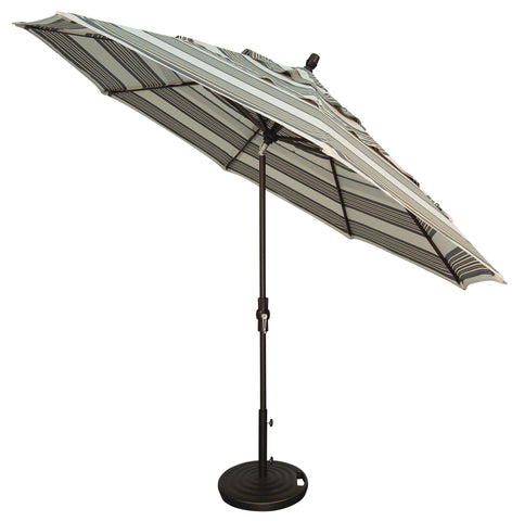 "Treasure Garden ""11' Aluminum Collar Tilt Umbrella"" (QUICK SHIP)"