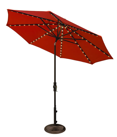 "Treasure Garden ""9' Starlight Collar Tilt Umbrella"" (QUICK SHIP)"