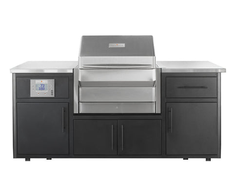 "Memphis Wood Fire Grills Outdoor Kitchen w/""Memphis Pro"" Built-In"