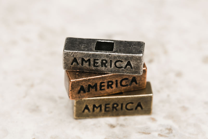 """America"" Word Brick - 212west.com Women Necklace and Pendant"