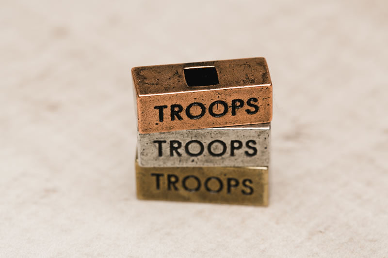 """Troops"" Word Bricks 212west.com personalized necklaces"