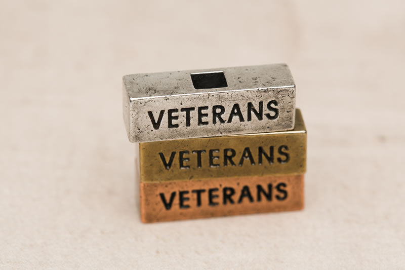 """Veterans"" word bricks at 212west.com patriotic personalized necklaces"