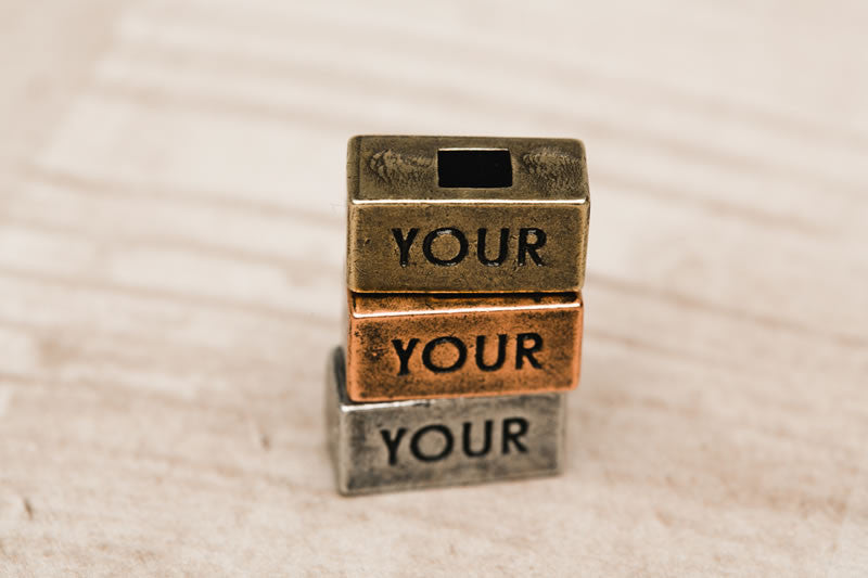 """Your"" Word Bricks 212 west personalized necklace collections"