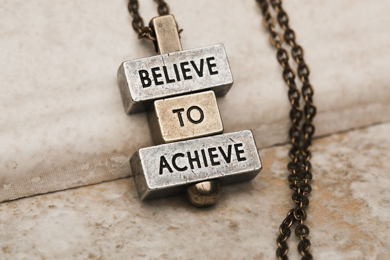 """Believe to Achieve"" Personalized necklaces and pendants 212west.com"