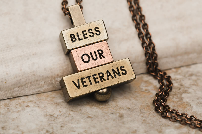 Bless our veterans 212west.com patriotic necklace collection