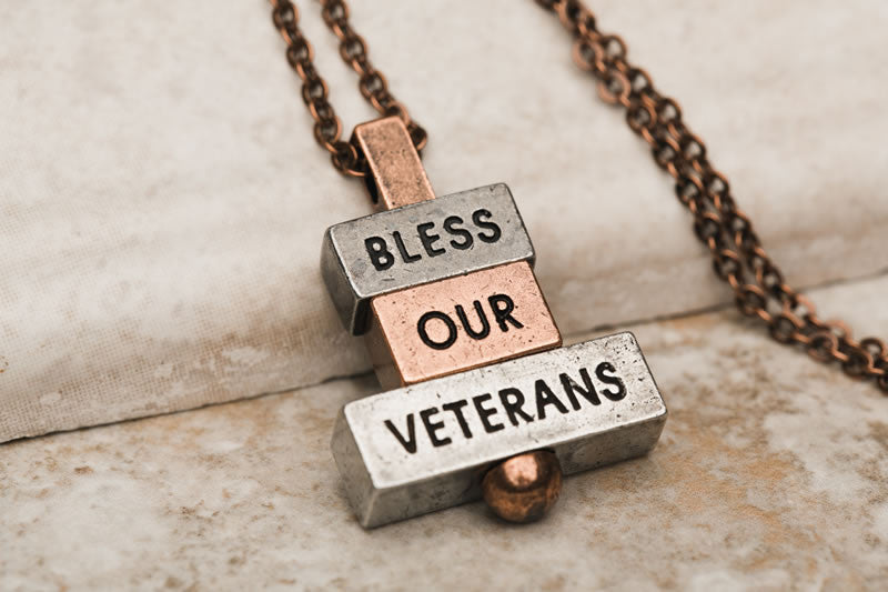 """bless our veterans"" - 212 west necklaces and personalized pendants"