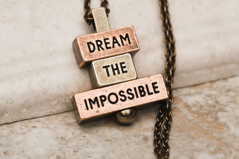 """Dream the Impossible"" 212 west necklace pendants"