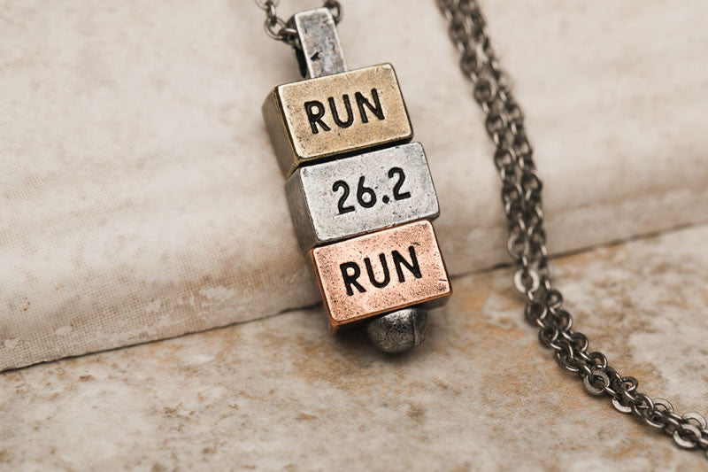 Run 26.2 Run 212west.com Runners Necklace Collection