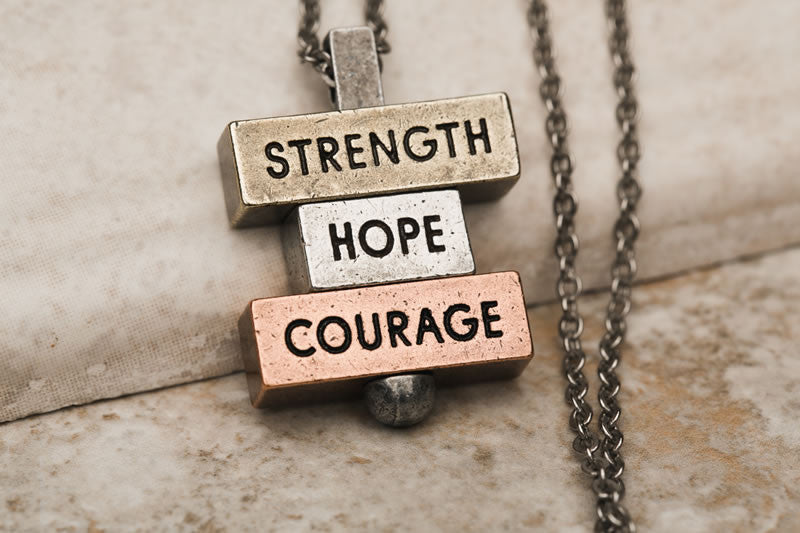 """Strength Hope Courage"" 212 west custom necklaces"