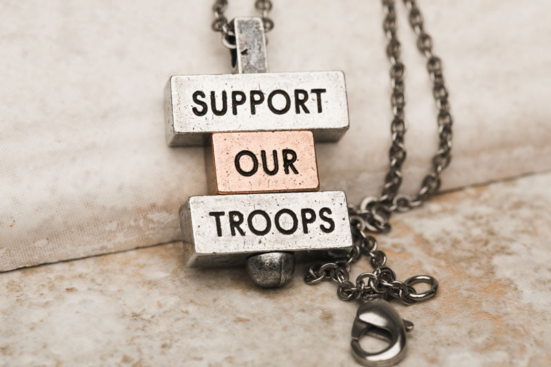 """Support Our Troops"" 212west.com necklace collections"
