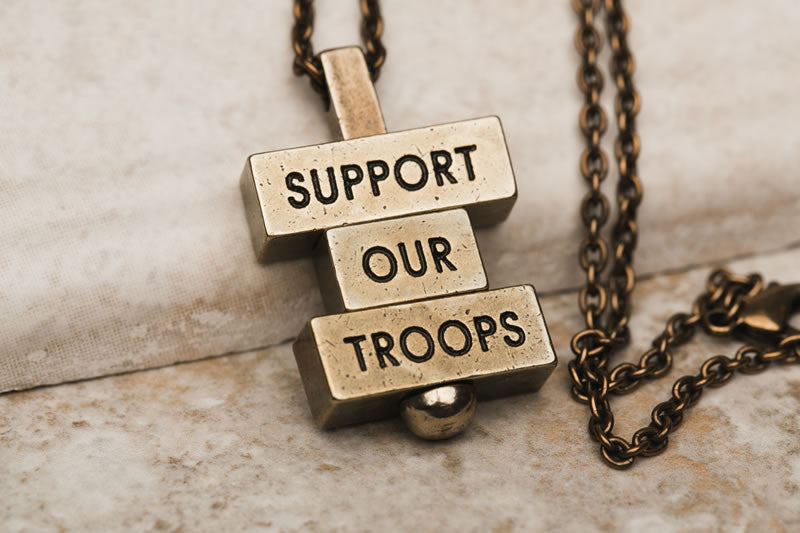 Support Our Troops necklace pendant collection 212 west