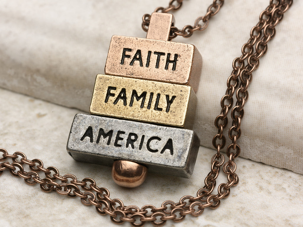 """Faith Family America"" 212west.com Necklaces and Pendants"