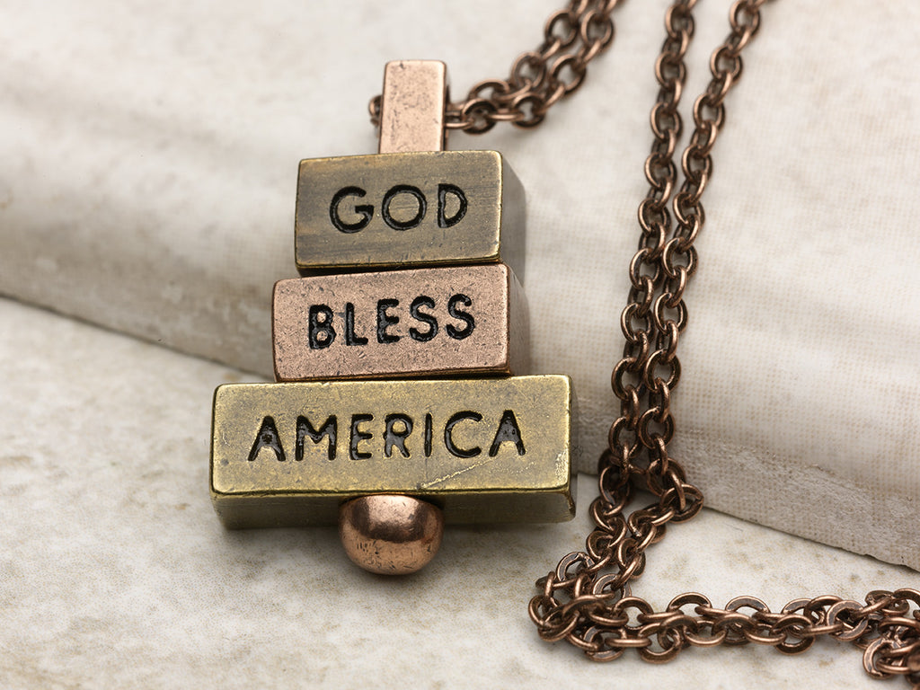 """God Bless America"" Necklace and Pendant Collection from 212 west"