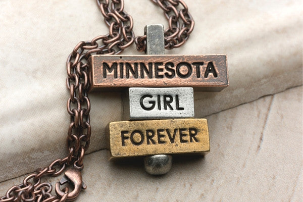 Minnesota Girl Forever - Pewter, Multi