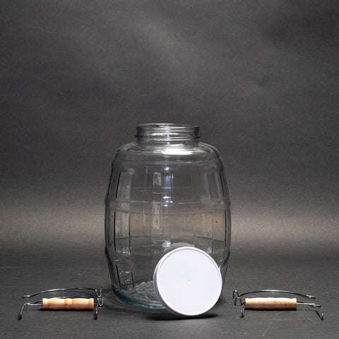 Glass Bottle With Cap (Round 2.5 Gallon)