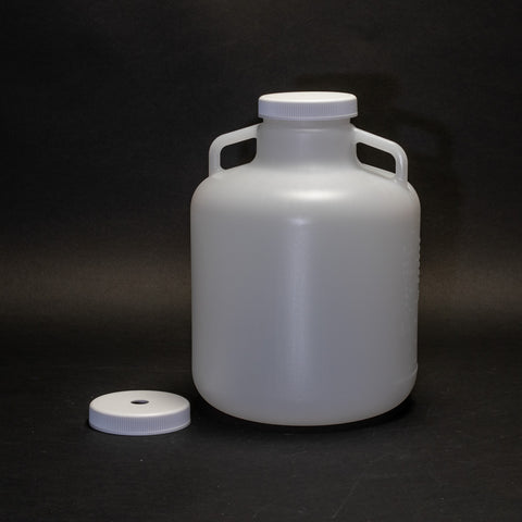 Polyethylene Bottle With Two Caps (Round 2.5 Gallon)