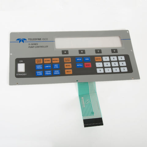 Control Panel Label For D-Series Pump Controller