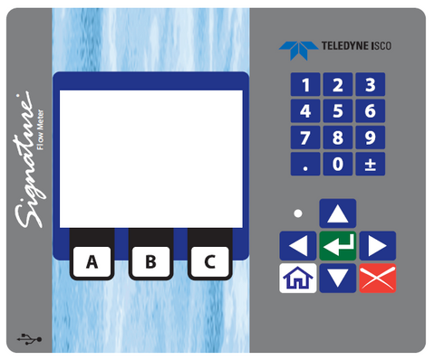 Front Panel Label For Signature Flowmeter