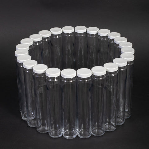 Glass Bottles With Caps (24 Round 350 mL)
